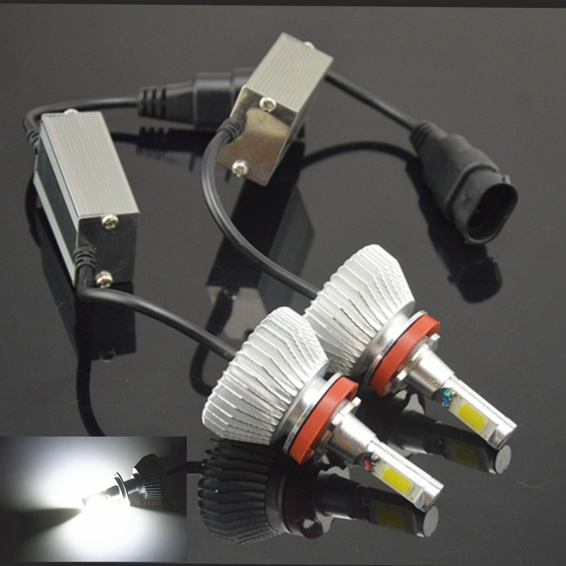 2pcs H1 H3 H4 H7 H11 80W 6000K 12V/24V LED Headlight Conversion Kit Head Car Xenon White ...