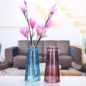 Multi Color Glass Vases Creative Nordic Style Flower Vase Handmade Dried Flower Vases European Flower Decorative Vase
