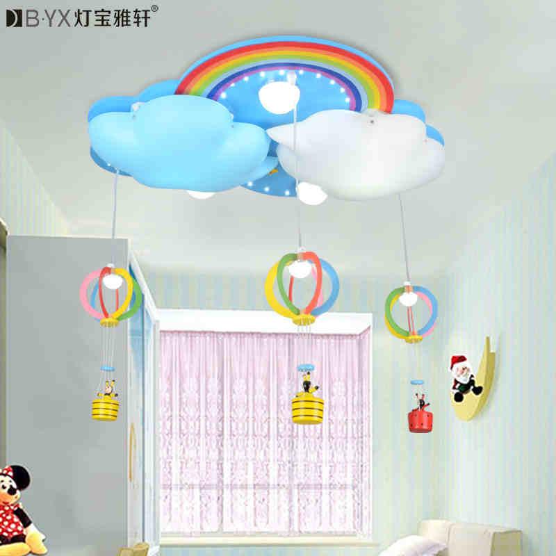 2016 new Childrens bedroom LED ceiling lamp and lanterns boy girl room lamp cartoon creative lamp warm