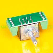 1pc ALPS 27 type 100K A Knurl shaft AMP volume potentiometer with PCB Board Tube DIY Amplifier liulian with remote motor potentiometer 147t 100k 30 axle 3x8
