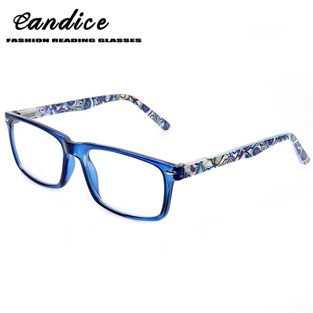 d89c5fca411a Fashion rectangular reading glasses for men and women spring hinge colorful  printed eyeglasses frames 0.5 1.75