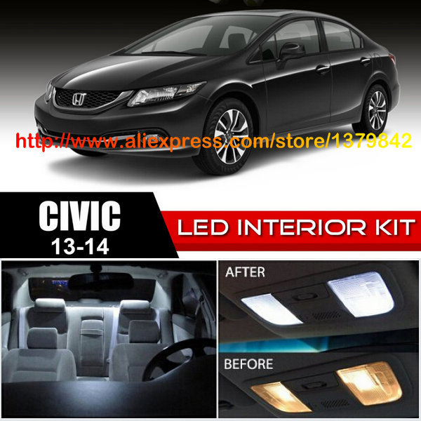 Free Shipping 8Pcs/Lot 12v car-styling Xenon White/Blue Package Kit LED Interior Lights  ...