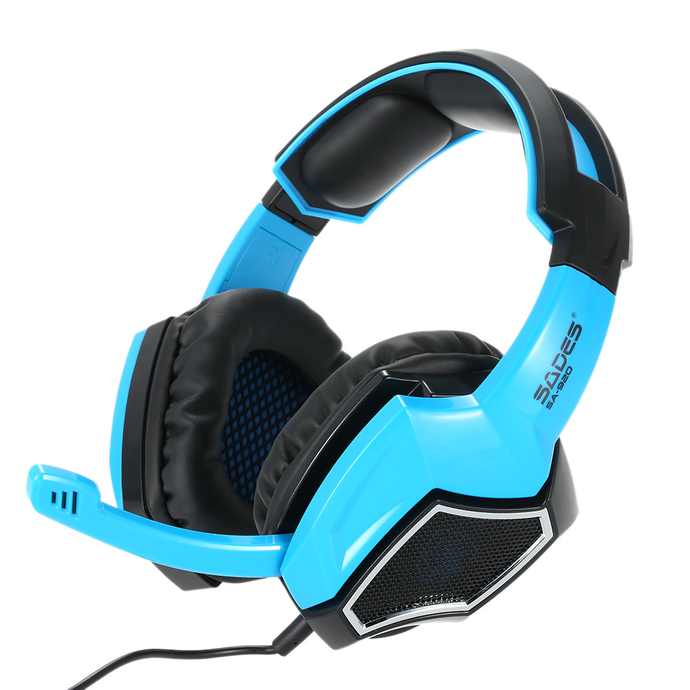 Gaming Headphone with Mic 3.5mm Over Ear Stereo Gaming Headset Music ...