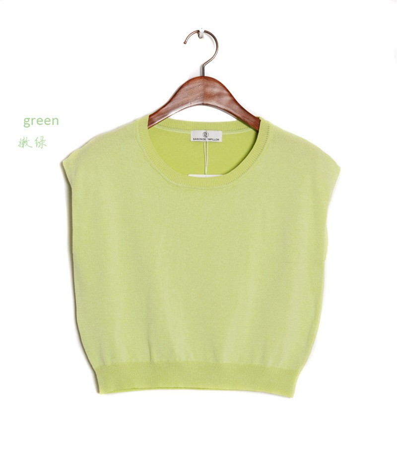 Summer 2016 Solid knitted short Pullover Sweater (16)