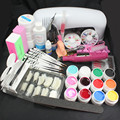 New Arrival Nail Art Tool 9W UV Gel Lamp Brush Acrylic Powder Tips Kits Tool & Electric File Drill For Professionals