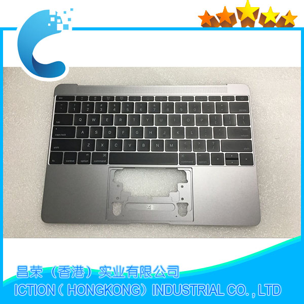 Original For Macbook Pro Retina 12 A1534 Topcase With Keyboard Upper Top Case Palmrest US Layout 2015 Years Gray Color Model original new laptop a1708 palm rest repair for macbook retina pro top housing case cover us layout 13 inch 2016 year replacement