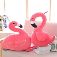 40cm Flamingos Plush Toys Kids Girls Boys Kawaii Kids Sleeping Pillow Back Cushion Cute Flamingos Baby Accompany Doll Xmas Gift