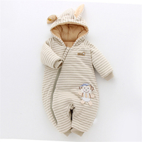 Funny Clothing Warm Baby Rompers Jumpsuits Autumn Winter Cute Horn Hodded Infant Baby Romper Cotton Newborn