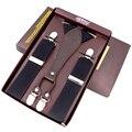 2016 Suspenders fashion man's braces Four Clip-on Y-Back ligas Elastic jacquard  Adjustable bretels 3.5 cm Width Tirantes
