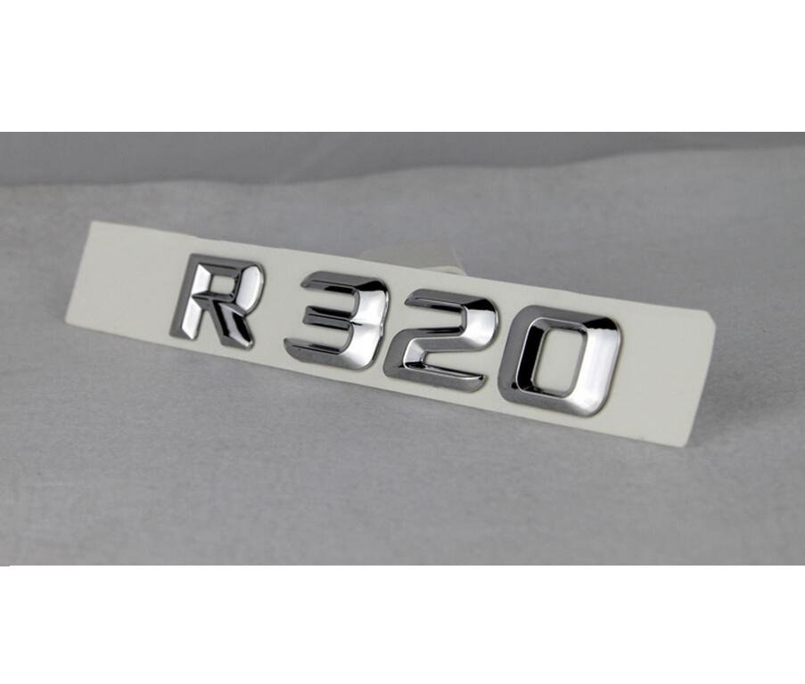 Chrome quot R 320 4 MATIC quot Car Trunk Rear Letters Words Badge Emblem Letter Decal Sticker for Mercedes Benz R Class R320 4MATIC in Emblems from Automobiles amp Motorcycles