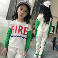 2 Pcs  Girls T-shirt + pants,New Arrival 2017 Spring and Autumn teenage girls clothing Sets children baseball outfit designer