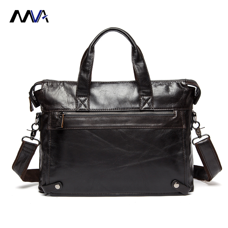 MVA Genuine Leather bag Business Men bags Laptop Tote Briefcases Crossbody bags Shoulder Handbag Men's Messenger Bag 2017 genuine leather bag leather men shoulder crossbody bags briefcases business bag men s travel bags tote men messenger bag