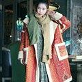 MX014 Новое Прибытие 2016 старинные национальный стиль женский пальто берберский флис свободные длинные осень и зима шерстяное пальто женщин