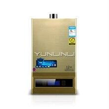 Газовый водонагреватель Интеллектуальный постоянной температуры сильный Золотой/сжиженный газ12л JSQ24-HM12