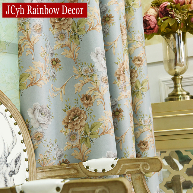 Luxury Blackout Curtains For Living Room Bedroom Window French Treatments  Drapery Girlu0027s Floral Curtains Tulle Kitchen