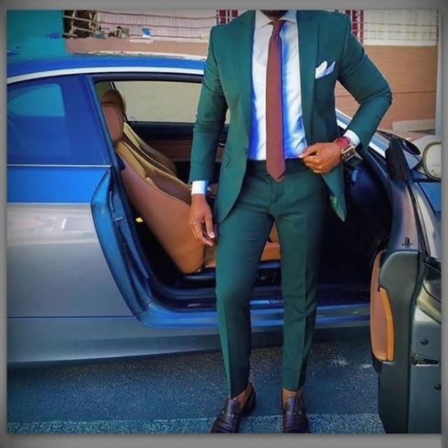 Street Style Man Suits Tailored Men Suits Wedding Slim Fit Tuxedo Masculino Latest Coat Pant Designs 2 Pieces (Jacket+Pant)