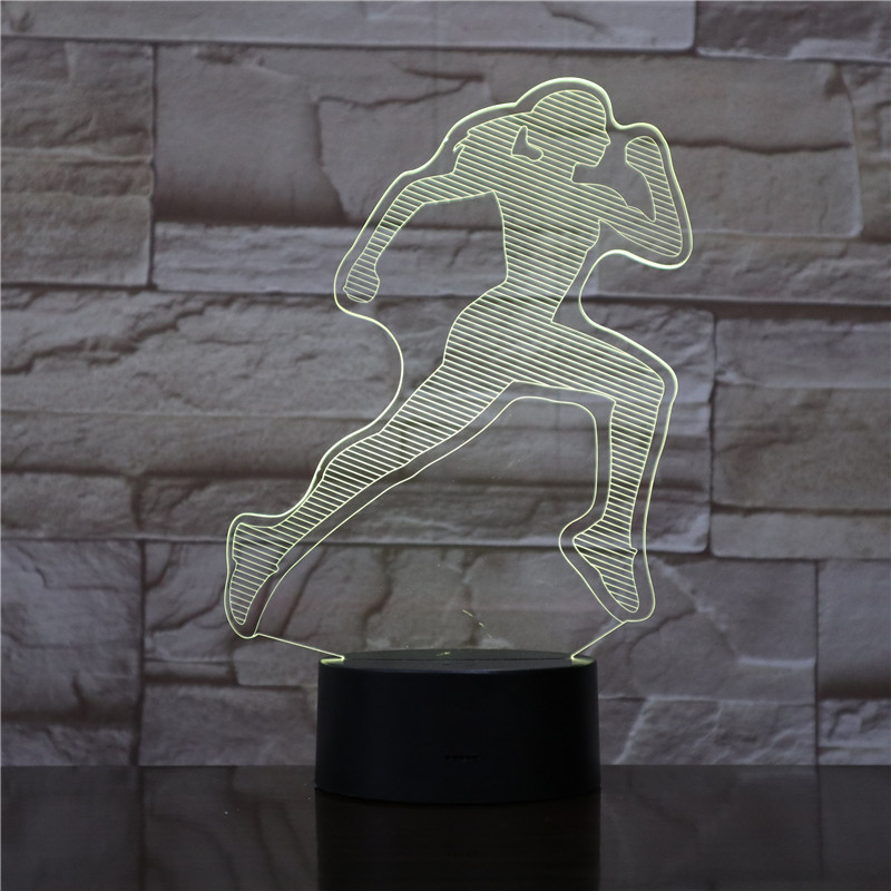 FEMALE WOMAN RUNNER 3D Led Night Light Touch Sensor Decorative Lamp Child Kids Baby Kit Nightlight 3D Lamp Sports Fan's Gift