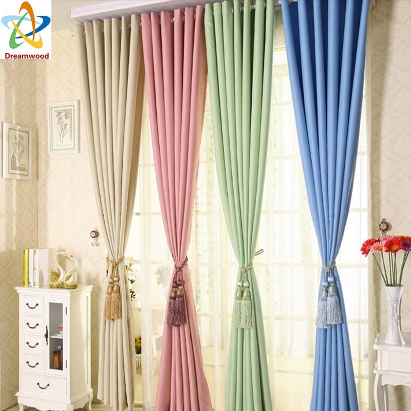 4 tipos de colores puros disponibles Cortinas de oficina de alto - Textiles para el hogar