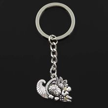 Fashion Keychain 28*20mm cornucopia thanksgiving Pendants DIY Men Jewelry Car Key Chain Ring Holder Souvenir For Gift(China)