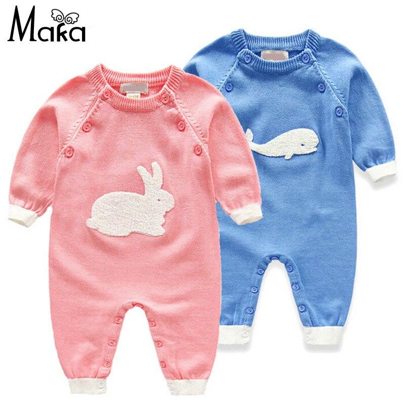 New Lovely Rabbit Knitted Romper For Baby Boy Girl Spring