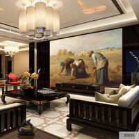 Custom Fabric Textile Wallcoverings For Walls Mural Wallpaper Retro Cotton And Linen For Living Room Home