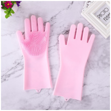 Hot Silicone Insulation Dishwashing Gloves Bathroom Kitchen Food Grade Cleaning Housework Magic