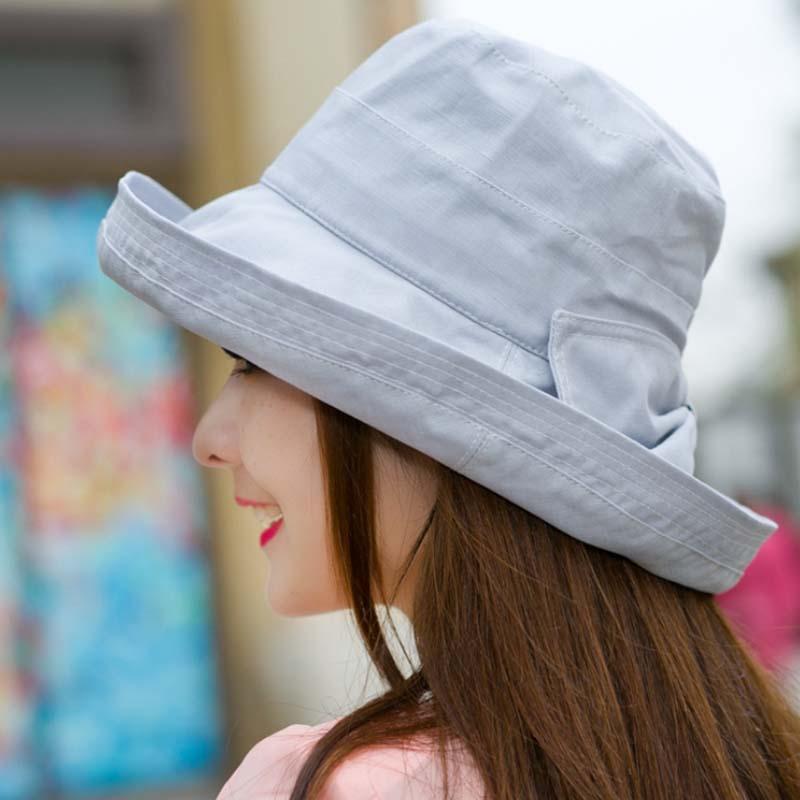 Gratë Bowknot Sun Hat, Dizajn Hats Peshkatar Beach Beach, Anti-UV - Aksesorë veshjesh - Foto 3