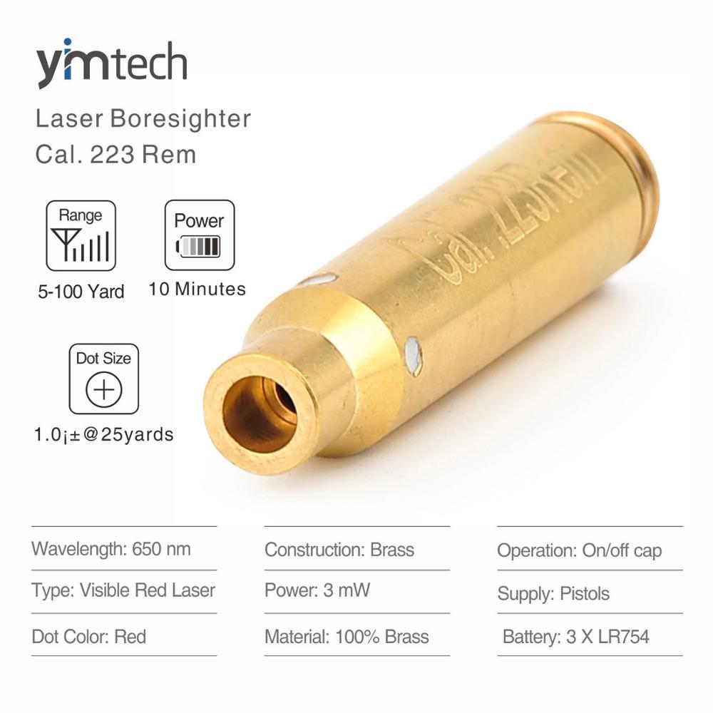 Cal Laser Red Dot .223 Rem Laser Bore Sighter Scope Laser Sights For Guns, 5-100 Yards Effective Range