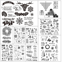 ZhuoAng Christmas stamps Transparent and Clear Stamp DIY Scrapbooking Album Card Making Decoration