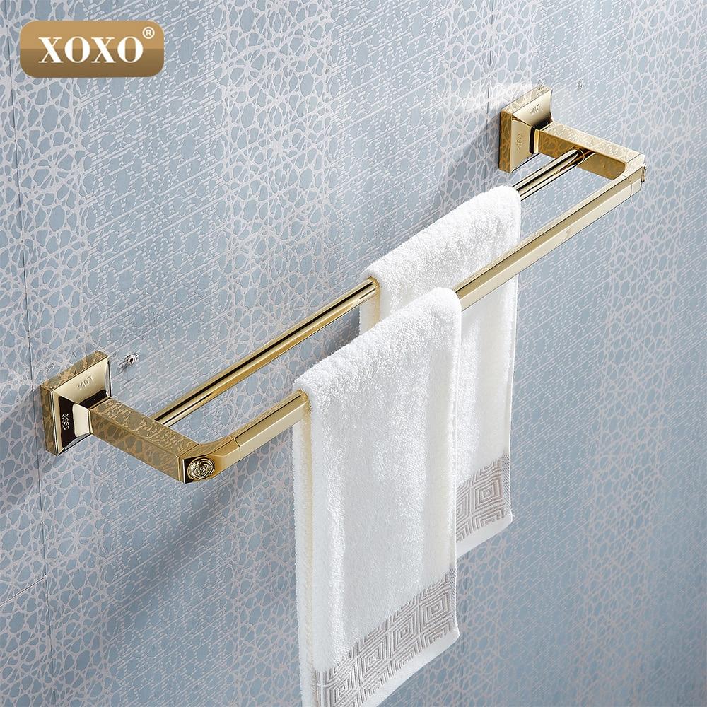 XOXO Designed Luxury Wall Mounted Carving Golden Brass Bathroom ...