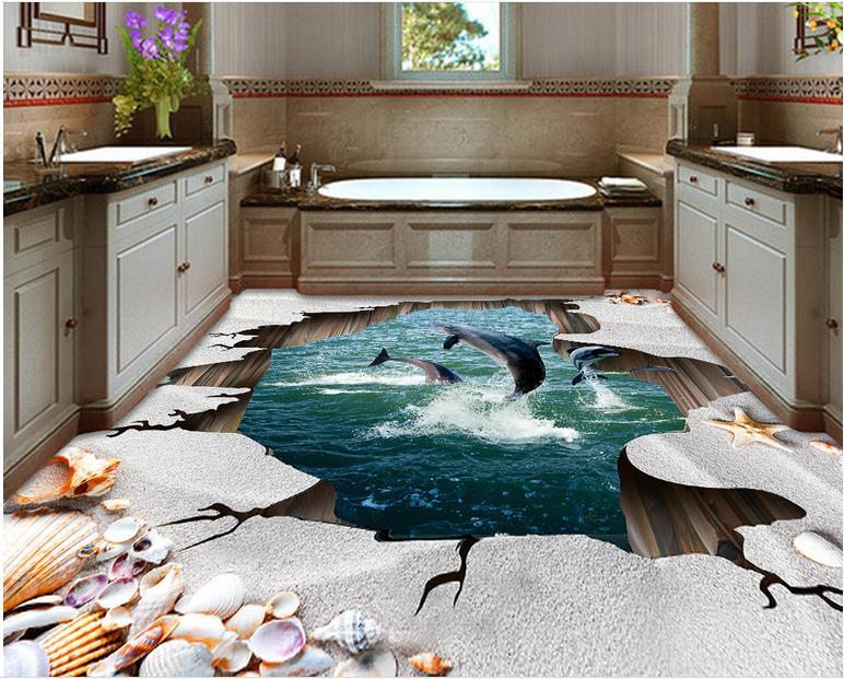 US $25.2 58% di SCONTO|3d pavimenti in Foto Stereoscopico conchiglie Sulla  Spiaggia wallpaper pavimenti in vinile sfondi per soggiorno camera da letto  ...