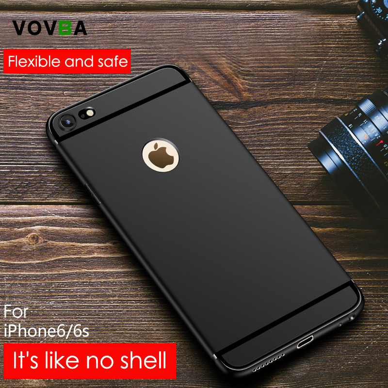 VOVTA Luxury Back Matte Soft Silicon Case for iPhone 6s Cases 6 Plus 5 5s Candy Full Cover For iPhone 7 Case Plus Phone Cases