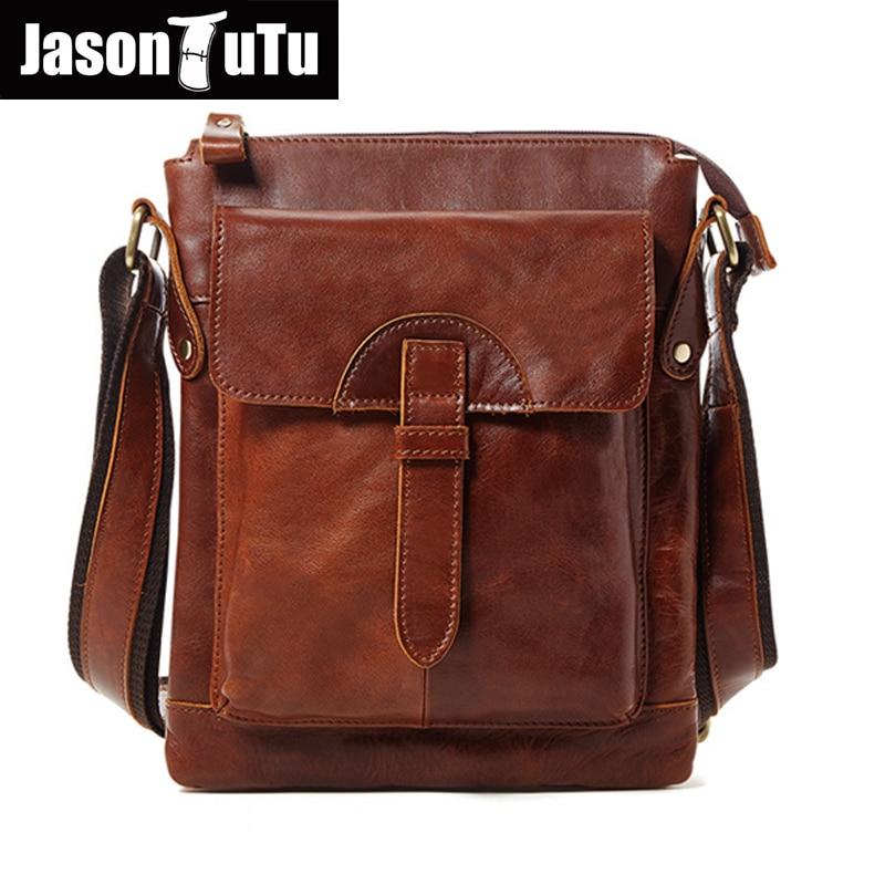 JASON TUTU 2017 New messenger bag men leather Genuine Leather Shoulder bag men Casual Commercial Briefcase Bag men HN252
