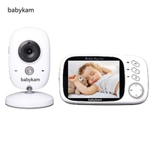 Babykam vigilabebes 603 3.2 inch LCD Spanish Menu IR Night vision 2 way talk 8 Lullabies Temperature monitor fetal vigila bebes
