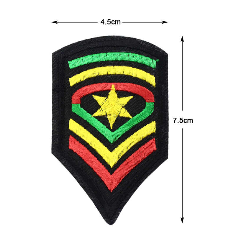 Yah Tentara Bendera Yehuda Bintang Stripes Lencana Bordir Bordiran Besi Pada Patch Pelangi Lencana Chevron Patch Bordiran