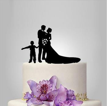 2017 Akrilik Mutlu Yaşam Ile 1 Erkek Düğün Pastası Topper/Düğün Standı/Düğün Dekorasyon Düğün Pastası Aksesuarları