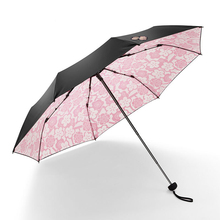 Variety of external vinyl manual tri-fold umbrella anti-UV sunscreen inside flower