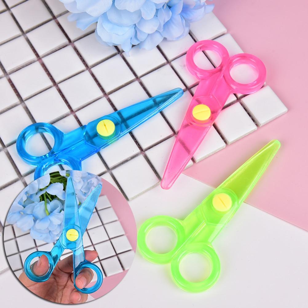 New Mini Safety Plastic Scissors Round Head Safety Scissors Stationery Student Kids DIY Paper Cutting School Supplies