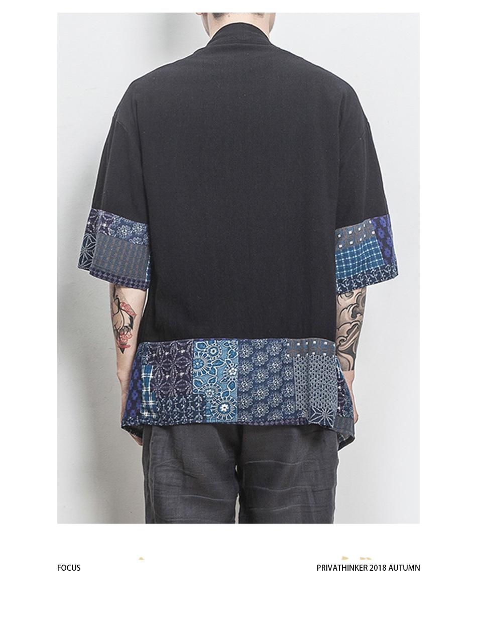 HTB1wdyZHaSWBuNjSsrbq6y0mVXat Drop Shipping Cotton Linen Shirt Jackets Men Chinese Streetwear Kimono Shirt Coat Men Linen Cardigan Jackets Coat Plus Size 5XL