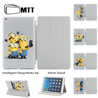 Minions Taking Photo Unique Print For Ipad Air 2 Case Magnetic Leather Smart Case Cover Apple