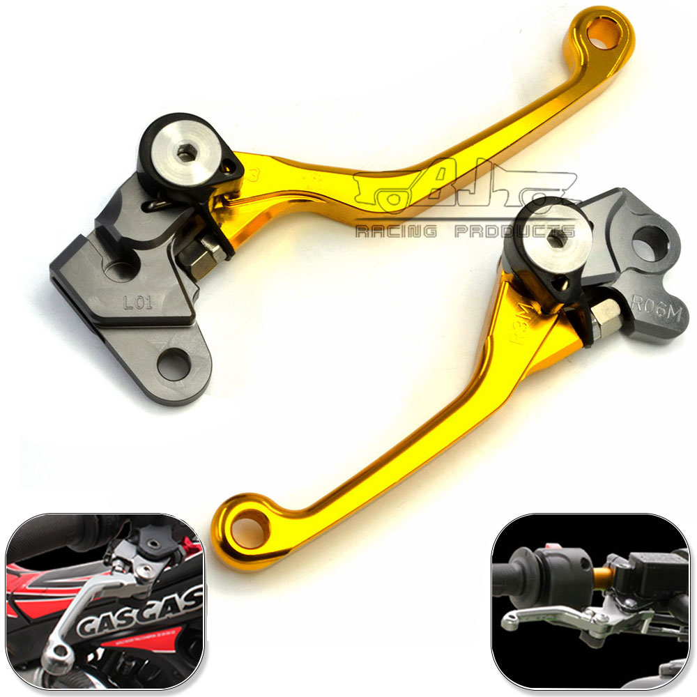 For Yamaha YZ125 YZ250 2008-2014 YZ250F 2007 2008 YZ426F YZ450F 2008 CNC Adjustable Motorcycle Pivot Clutch Brake Lever