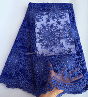 Exclusive Solid Color Tulle Lace Fabric African French Net Lace High Quality Smooth Material 5 Yards