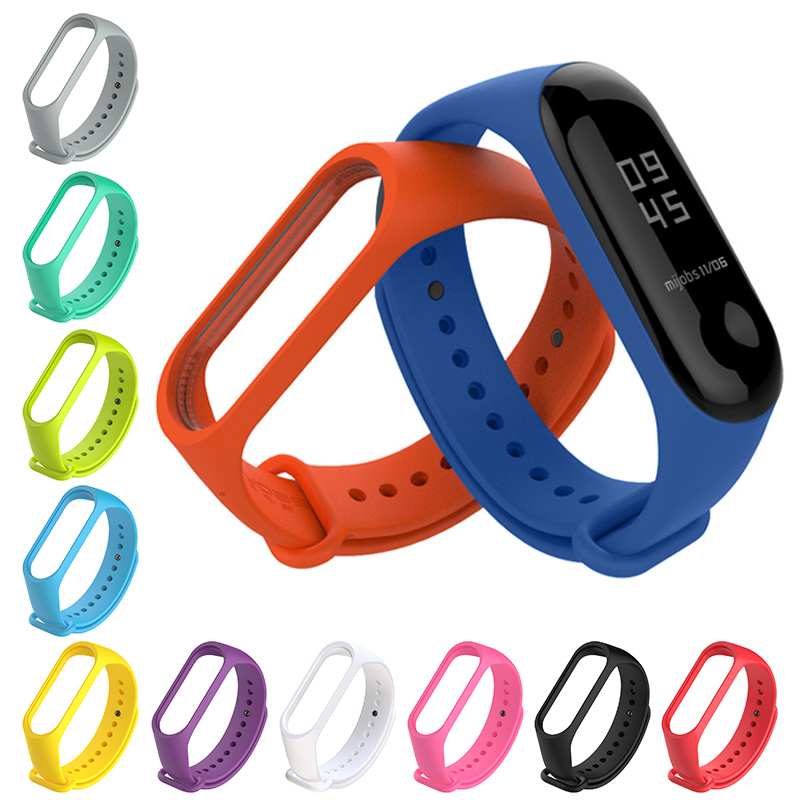 On My Mi Band 4 Strap Durable Watch Silicone Wrist Strap For Xiaomi Mi Band 3 Xiomi Miband 4 Brand 3 Band4 Bracelet Accessories