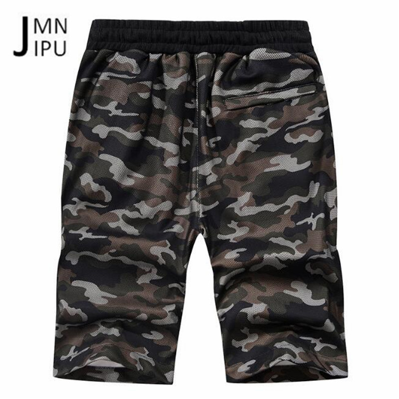 JI PU Khaki/Army Green Mans Camouflage Mid Waist Deports Shorts,Summer Pantalones cortos de baloncesto de hombres deportes