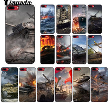 World of tanks Yinuoda TPU Macio Caso de Telefone Silicone Preto para o iphone X XS MAX 6 6S 7 7 além de 8 8Plus 5 5S XR(China)