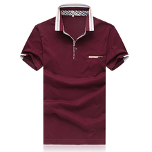 business style red navy white 5XL summer mens polo shirts brands short sleeve polo shirt men camisa polo masculina P550