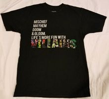 Mischief Mahem Doom Life More Fun With Villains Shirt Marvel Thanos Loki Magento Fashion Logo Printing  T Shirts