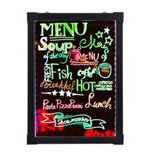 16X24 дюймов легко пишется на мигающий светящийся флуоресцентная вывеска набор доски кафе кофейное меню стиль неоновый светодиодный Декор