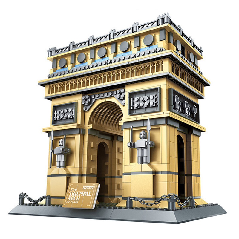 Architecture Paris France Arc de Triomphe Collection blocs de construction ensemble briques modèle classique enfants jouets cadeau Compatible Legoings