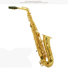 French Henluckuy 82Z Eb Alto Saxophone Brand Professional Gold Plated Saxe Top Musical Instrument Sax With Case mouthpiece